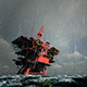 Oil Rig at Sea During a Storm - VideoHive Item for Sale