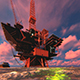 Oil Platform in the Oil - VideoHive Item for Sale