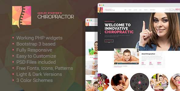 Chiropractor – Therapy and Rehabilitation HTML Template