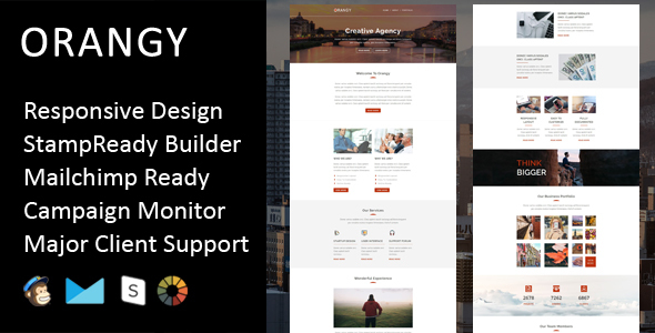 Orangy – Multipurpose Responsive Email Template + Stampready Builder