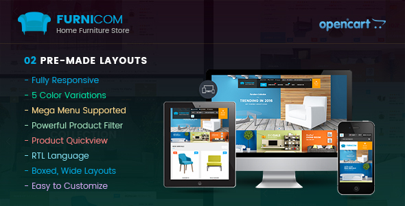 Furnicom – Responsive Multipurpose OpenCart Theme