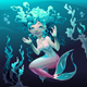 Young Mermaid in the Sea - GraphicRiver Item for Sale