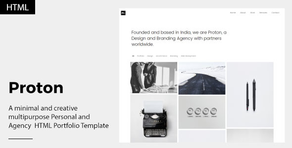Proton – Personal and Agency Portfolio Template