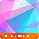 30 Low-Poly / Polygonal / Geometrical Photoshop Brushes #2 - GraphicRiver Item for Sale