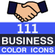 111 Business Flat Color Icons - GraphicRiver Item for Sale