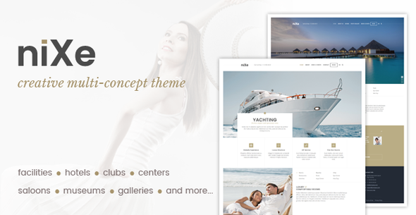 Nixe | Hotel, Club, Travel, SPA and Holiday WordPress Theme