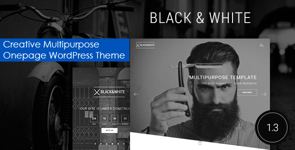 Black&White – Creative Multipurpose WordPress Theme