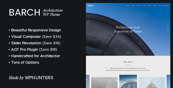 Barch – Clean Architecture & Construction WordPress Theme