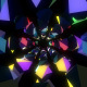 Lowpoly Forms Disco Tunnel VJ