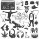 Hip Hop Icon Set - GraphicRiver Item for Sale