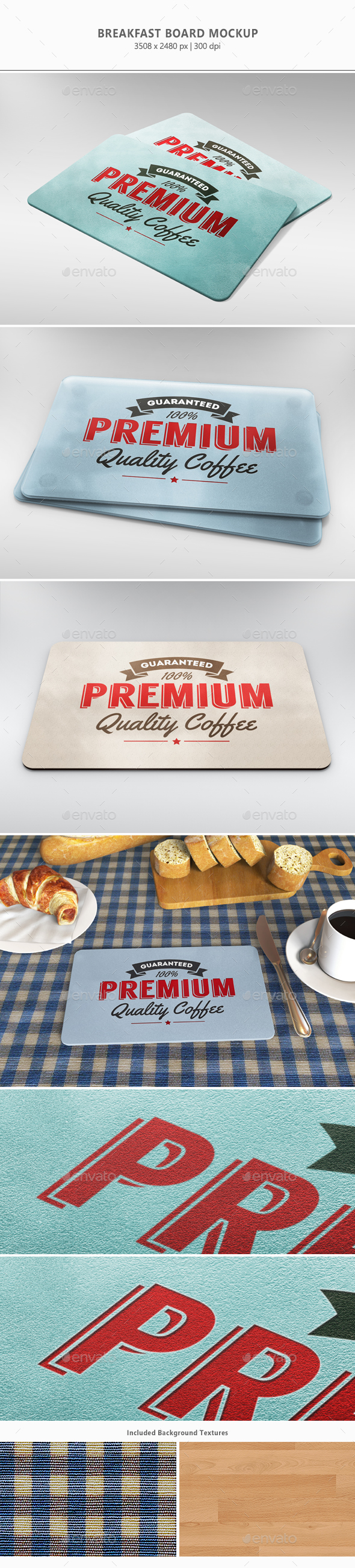 Breakfast Board Mock-up - Miscellaneous Print