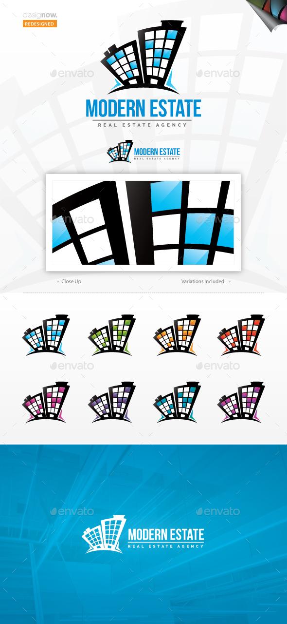 Modern Estate Logo - Buildings Logo Templates