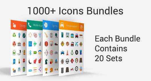 1000+ Icons Bundle