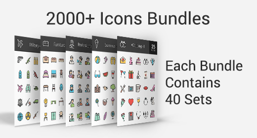 2000+ Icons Bundle