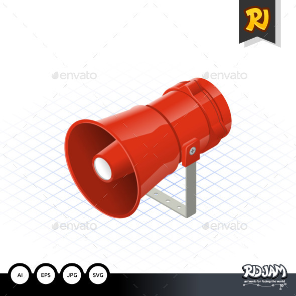 Isometric Loudspeaker - Man-made Objects Objects