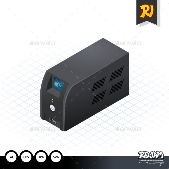 Isometric Uninterrupted Power Supply - Computers Technology