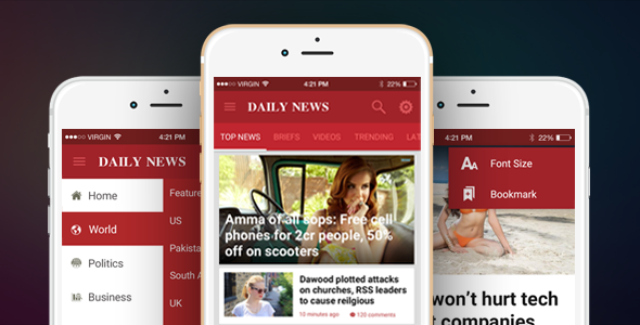 Ionic Theme, Ionic Template for Mobile News, Blog, Magazine Application - DailyNews - CodeCanyon Item for Sale