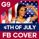 4th Of July Facebook Cover - 4 Design