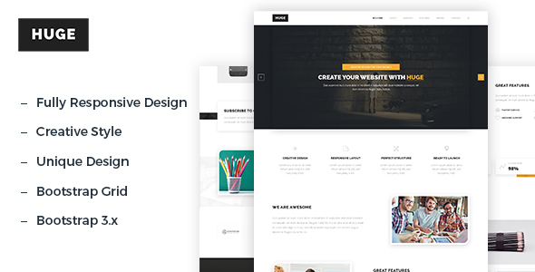 Huge – HTML5 Creative Multipurpose Template