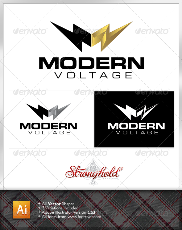 Electrical Company Logo Template - Letters Logo Templates