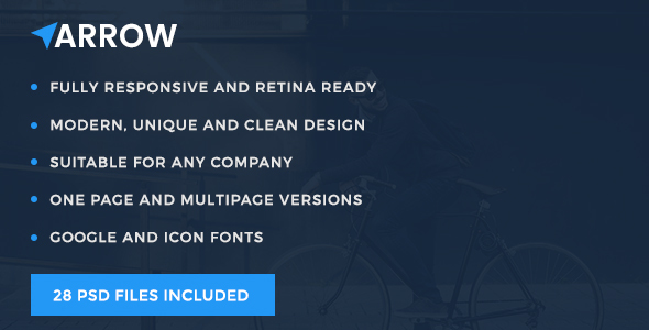 Arrow – Multi Concept PSD Template for Any Business