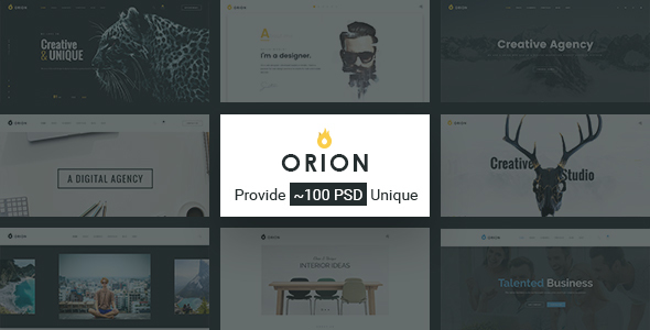 Orion | Creative Multi-Purpose PSD Template - Creative PSD Templates