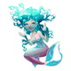 Young Mermaid with White Background - GraphicRiver Item for Sale