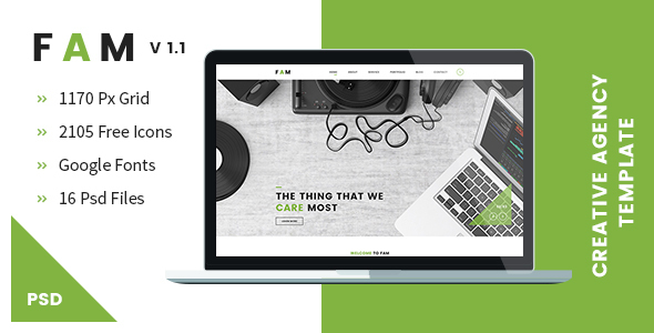 FAM - A Template For Creative Agency - Creative PSD Templates