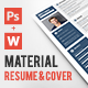 Material CV & Cover Letter - GraphicRiver Item for Sale