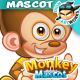 Monkey Mascot Character Set - GraphicRiver Item for Sale