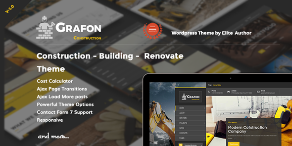 Grafon – Construction Building Renovate WordPress Theme