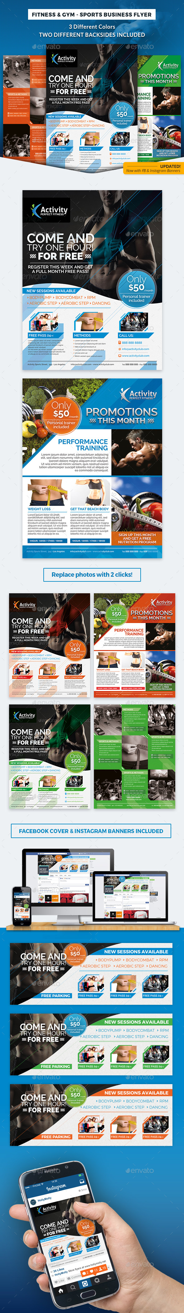 Fitness & Gym - Sports Business Flyer - Corporate Flyers
