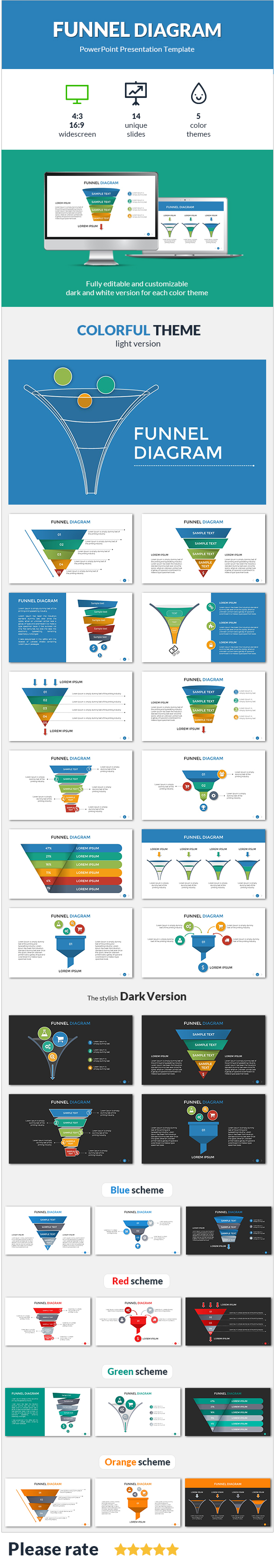 Funnel diagram presentation template by sananik graphicriver funnel diagram presentation template powerpoint templates presentation templates pooptronica Images