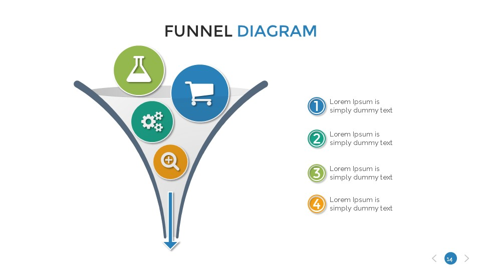 Funnel diagram presentation template by sananik graphicriver funnel diagram presentation template ccuart Image collections