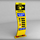 Gas station price sign totem low poly 03 - 3DOcean Item for Sale