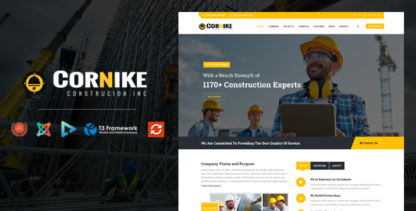 Cornike – Joomla Construction Business Template