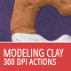 Modeling Clay - Photoshop Actions - GraphicRiver Item for Sale