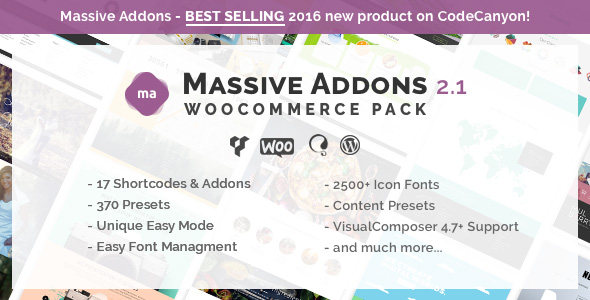 Massive Addons for Visual Composer - WooCommerce Pack - CodeCanyon Item for Sale