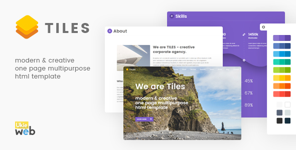 Tiles – Modern & Creative One Page Multipurpose Html Template