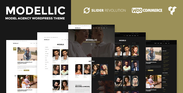 Modellic – WooCommerce & Booking Model Agency WordPress Theme