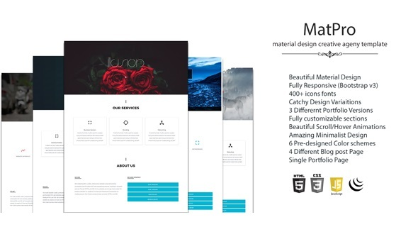 MatPro Material Design Agency Template - Business Corporate