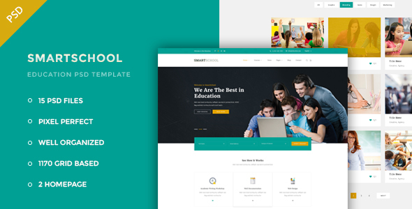 Smartschool – Education PSD Template