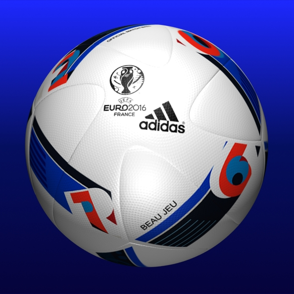 Adidas Beau Jeu Euro 2016 Ball  - 3DOcean Item for Sale