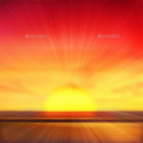 Sunset Background - Landscapes Nature