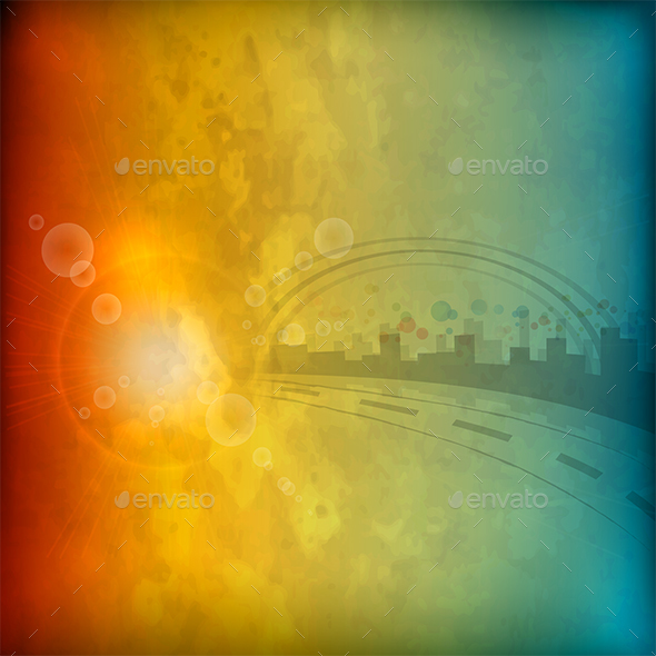 City Abstract Background - Backgrounds Decorative