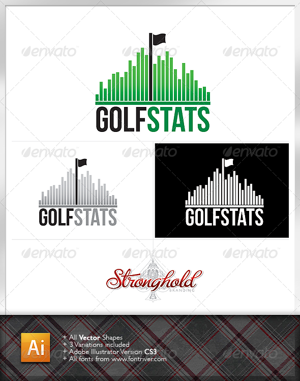 Golf Stats Logo Template - Abstract Logo Templates