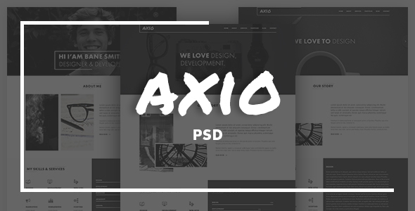 Axio | Agency and Portfolio PSD Template