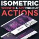 Isometric Website & App Mockup Actions
