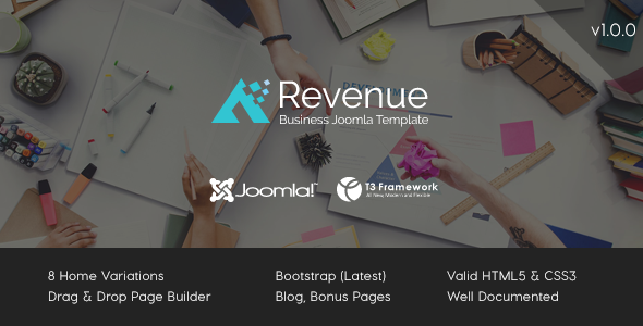 Revenue – Business Joomla Template