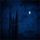 Gothic Church Spire With Moon Above - VideoHive Item for Sale